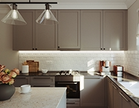 Classical Style Small Kitchen