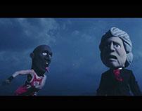 "Masks for Klô Pelgag's music video ""Les Corbeaux"""
