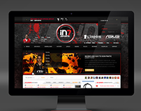 IN7 Esports Layout - Webdesign 2012