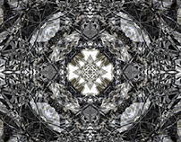 New black & white kaleidoscope/mandala designs
