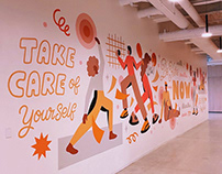Pluralsight Wellness Mural