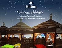 Hilton social media designs