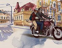 Watercolor illustrations for Silpo