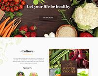 Fruits & Vegetable stores - Web design