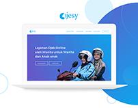 Ojesy (Ojek Syari) Ride Sharing Landing Page Redesign