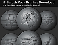 Zbrush - 18 new brushes + Mini tutorial