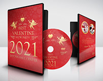 Valentine Day Party DVD Cover and Label Template
