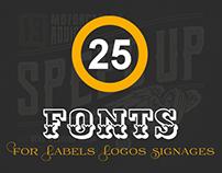 25+ Best Handpicked Fonts for Labels, Logos, Signages