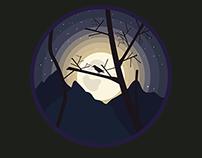 FREE VECTOR - MOONLIGHT NIGHT ICON