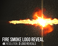 Fire Smoke Logo Reveal, After Effects Templates