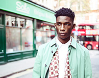 CALEO Magazine: Soho Boy featuring Harry Uzoka