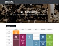 Timetable Page - Gym WordPress Theme