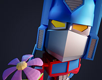 Optimus Prime - Big head low poly