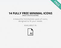 Free Minimal Photo Editing Icons