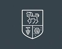 Trzykolne Młyny: stajnia, winnica, pasieka. Logo ID