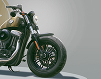 Harley Davidson 48 Sportster illustration