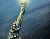 Lady Liberty Digital Painting
