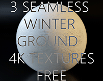 3 SEAMLESS 4K WINTER GROUND TEXTURES