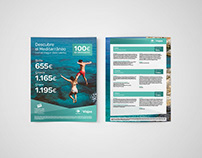 Design Flyer A4 Travel to the Mediterranean