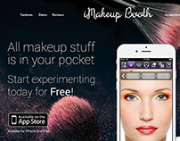 iMakeup Booth Landing page