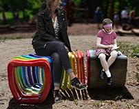 Slinky; public bench design