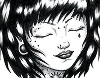 Ilustrações para a banda Kiara Rocks