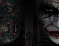 Mock up movie poster for The Dark Knight