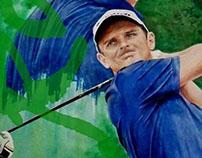 Sports Art - Justin Rose