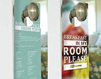 Room service door hangers