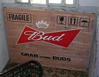 In-store installation for Bud beer