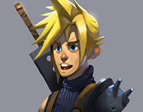 Cloud Strife Fan Art - Process Video