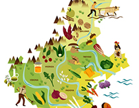 Food of the Land - Map