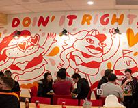 Johnny's Burgers Murals