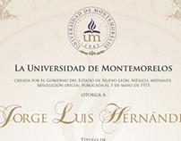 Propuesta de diseño para Título Universitario de la UM