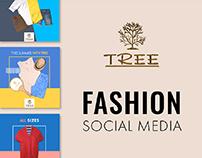Tree men fashion social media