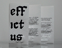 Effictus Typeface