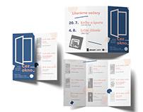 Cez okno: čítanie slovenskej literatúry - leaflet