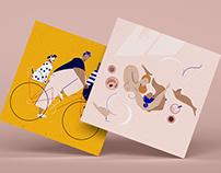 Illustrated Postcards