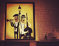 It's all about Jazz handmade lamp.