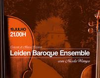 Baroque concert poster, Casa da Ínsua Hotel