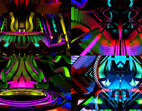Abstract Stage - VJ Loop Pack (4in1)