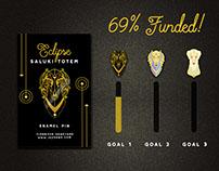 Saluki Totem Enamel Pin Kickstarter
