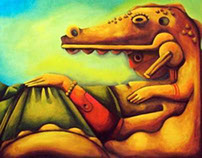 crocodile God Oil on canvas
