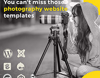 7 photography website templates You can't miss.