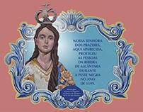 Painéis dedicados a Nª Sra. dos Prazeres