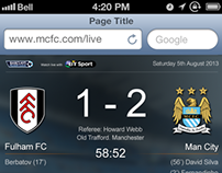 Manchester City FC Second Screen App iPhone concept