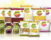 Juréia Alimentos (Nova Identidade, Design de Embalagem)