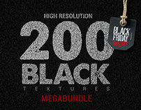 200 Black Textures Megabundle