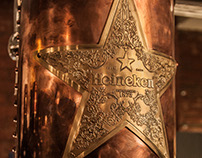 HEINEKEN ENGRAVED COPPER STAR