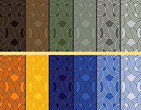 Designs of seamless patterns with ornament